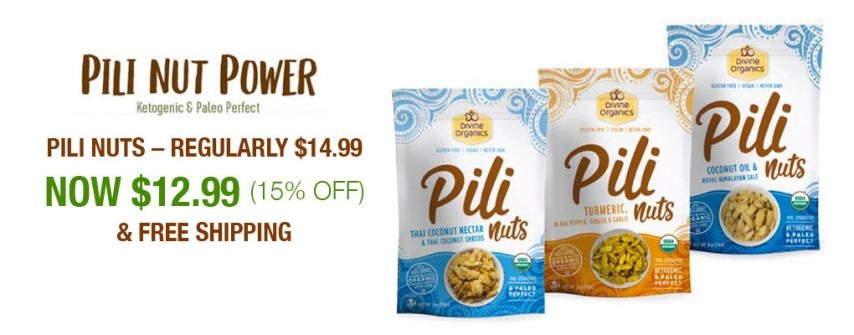 Save 15% off Individually Priced Pili Nuts