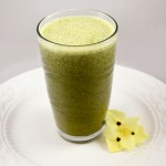 raw apple spinach smoothie