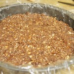 cake crust in a baking pan